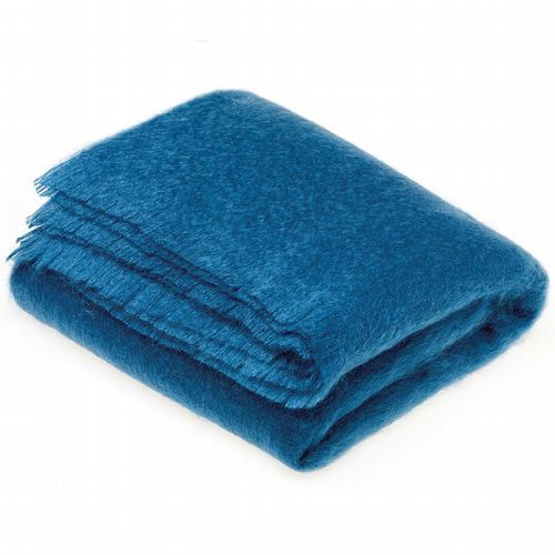 Mohair Throw - Teal